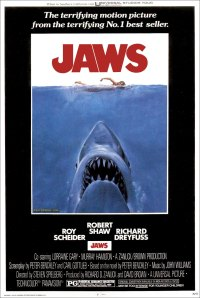 "Considered the first ""summer blockbuster,"" the movie ""Jaws"" shares a lot of similarities with adventure pulp stories of the past -- in that it focuses more on telling an exciting story over other elements."