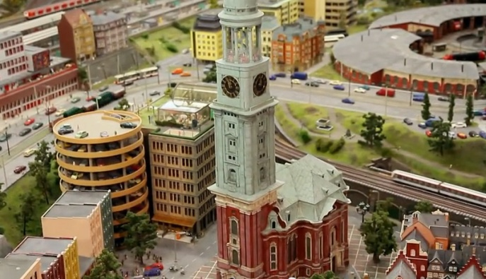 Miniatur Wunderland is a massive train display in Hamburg, Germany. It includes scenes from multiple countries.